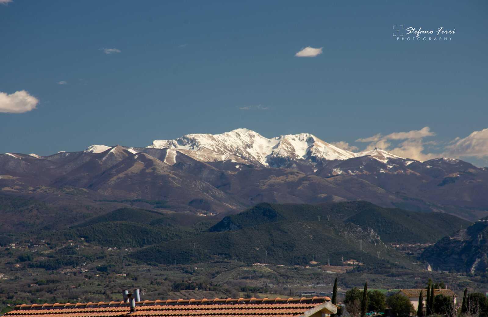 Il monte Terminillo visto da San Gemini