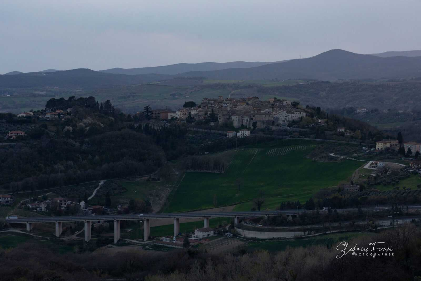 La città di San Gemini, Umbria, panorama Est