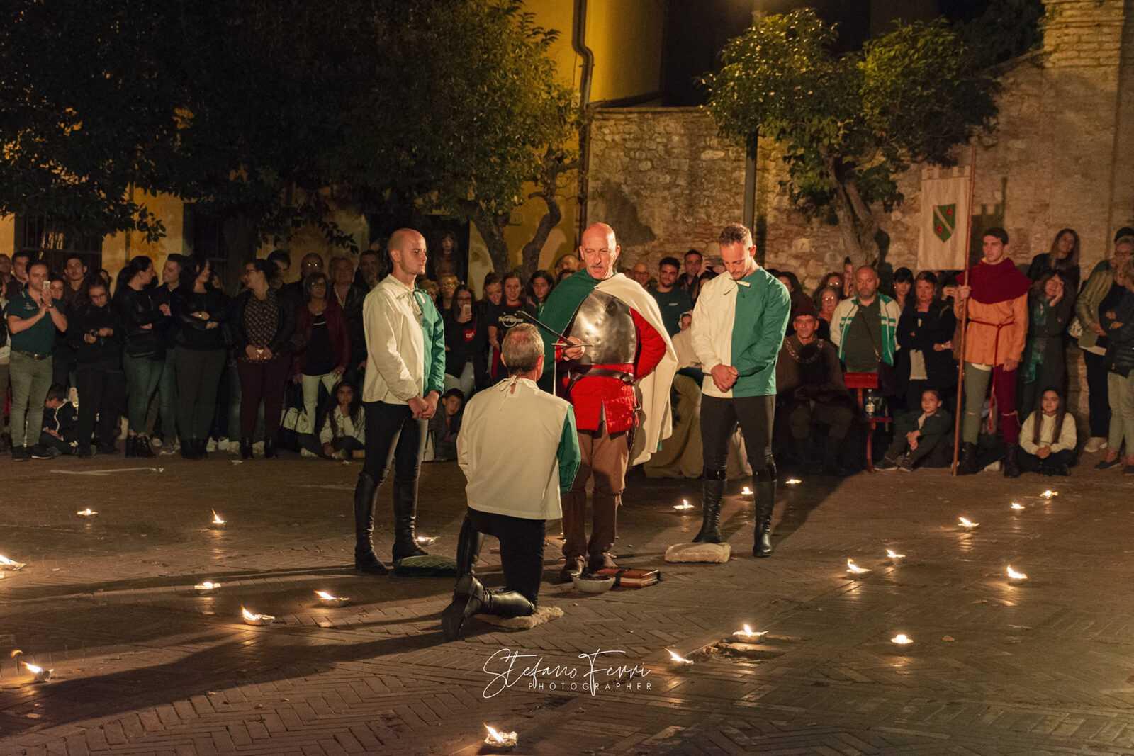 giostra dell'arme 2018, investitura dei cavalieri del Rione Piazza, Foto: Stefano Ferri